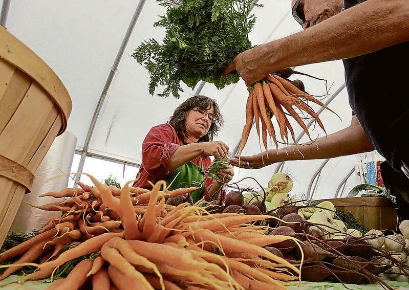 You can still pick up fresh produce — everything from carrots and cauliflower to kale and kohlrabi — at a local farmers market. (Wayne Glowacki / Winnipeg Free Press files)