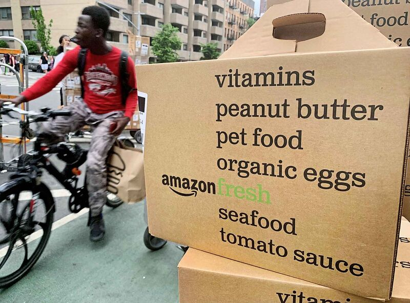 Amazon Fresh is a grocery delivery service available in some U.S. cities that can be at a person's home the same day it's ordered. (Jenny Kane / The Associated Press files)