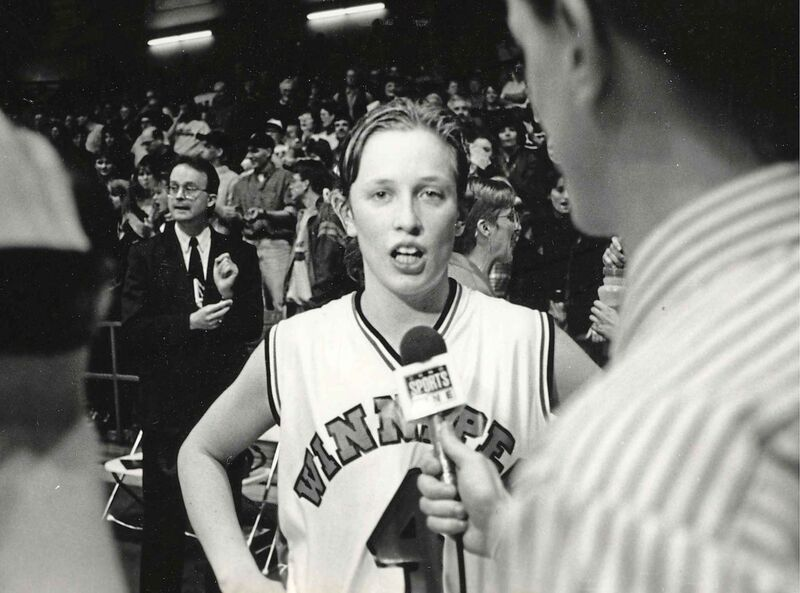 """Carroll on her freshman year as a Wesmen: """"I maybe averaged one point per game or something in my first year and I barely played."""""""
