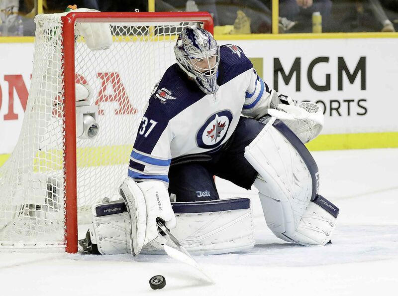 While Hellebuyck wasn't particularly strong at stopping the most dangerous shots he faced, he was nearly unbeatable from everywhere else on the ice. (Mark Humphrey / The Associated Press files)