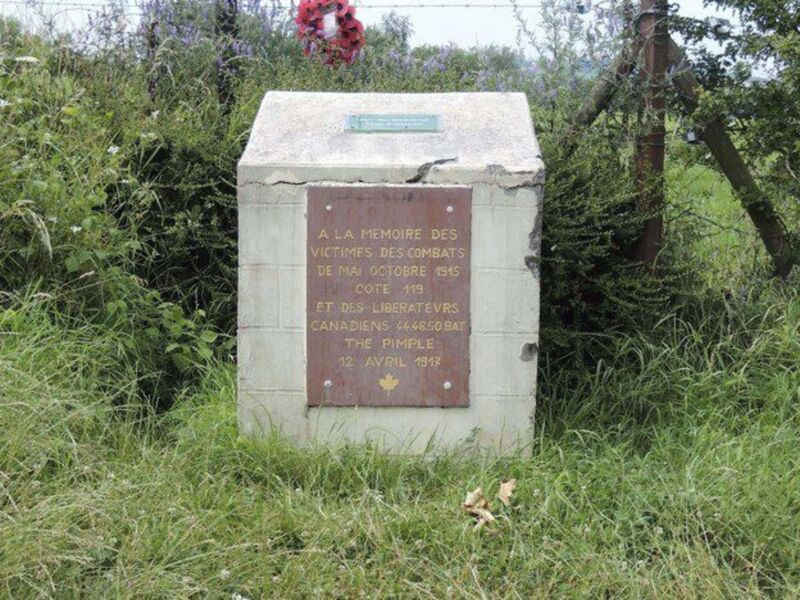 The small tribute to the 44th Battalion in France.</p></p>
