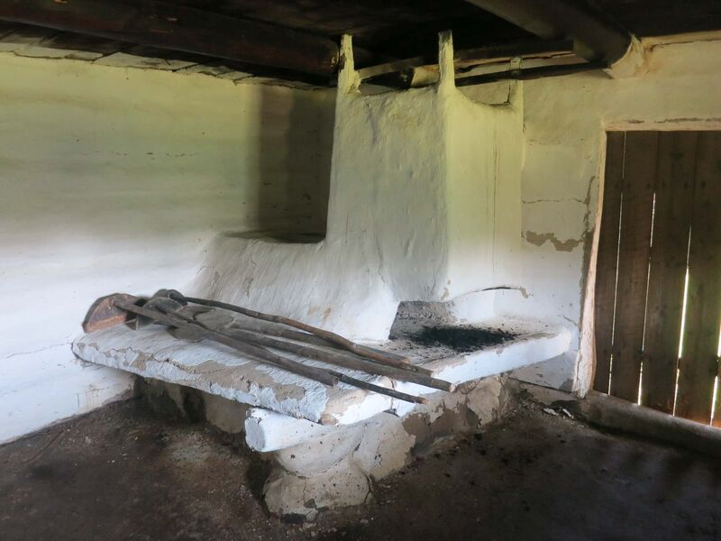 A clay oven, called a peech, inside the bunkhouse was used for cooking and to provide heat.</p></p>