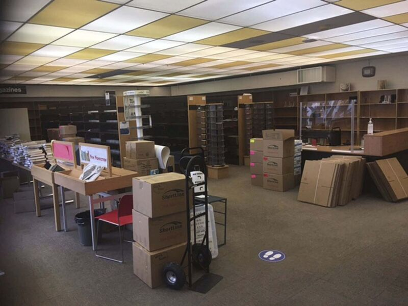 City of Winnipeg</p><p>River Heights Library packed up and ready for moving day.</p>