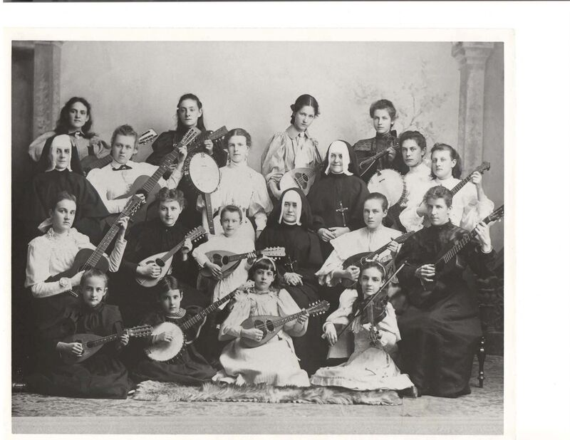 SUPPLIED</p><p>Music teachers and students in 1896.</p>