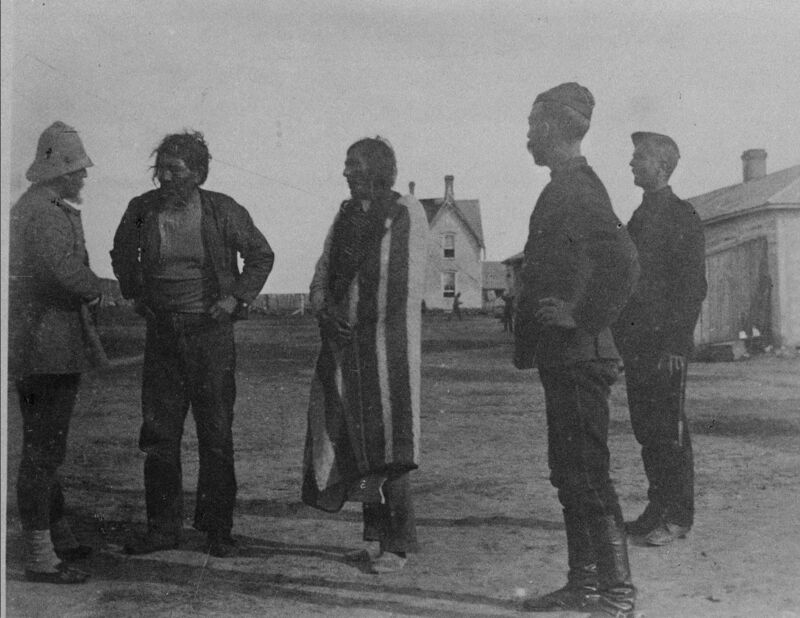 Chief Poundmaker, centre, is shown in a file photo from the 1884-1888 Northwest Rebellion.