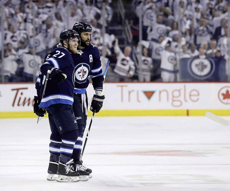 The Jetsare dealing with their own injury troubles with both Dustin Byfuglien (33) and Nikolaj Ehlers (27) on injury reserve; neither is expected back before the beginning of February at the earliest. (Trevor Hagan / The Canadian Press files)