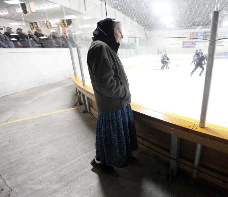Pauline Maendel was a pioneer athlete at Baker, playing on an all-women's baseball team. Today she enjoys watching her daughters play. (Phil Hossack / Winnipeg Free Press)