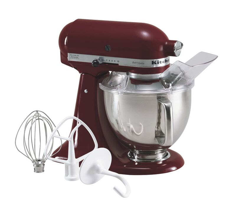 Fontaine has two KitchenAid Stand Mixers.