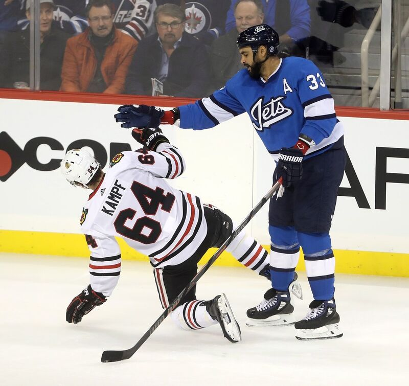 Byfuglien's physical style of play made him an instant favourite for fans of the Winnipeg Jets.