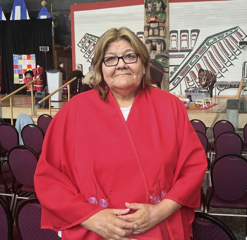Darlene Osborne of Norway House Cree Nation, Manitoba, who is grieving her granddaughter Felicia Velvet Solomon, 16, who was found dead in Winnipeg in 2003.