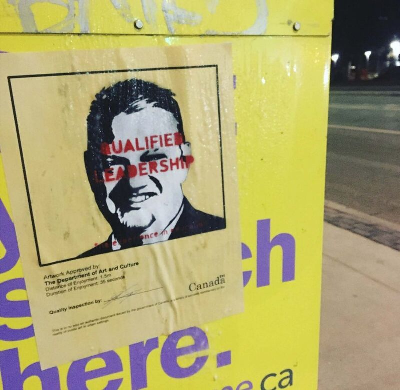 Supplied</p><p>The artist behind Winnipeg's hidden Waldo paintings turned his hand to posters taking shots at provincial leaders.</p></p>