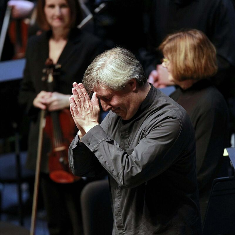 </p><p>WSO Conductor Daniel Raiskin thanks the audience at the New Music Festival in January.</p></p>