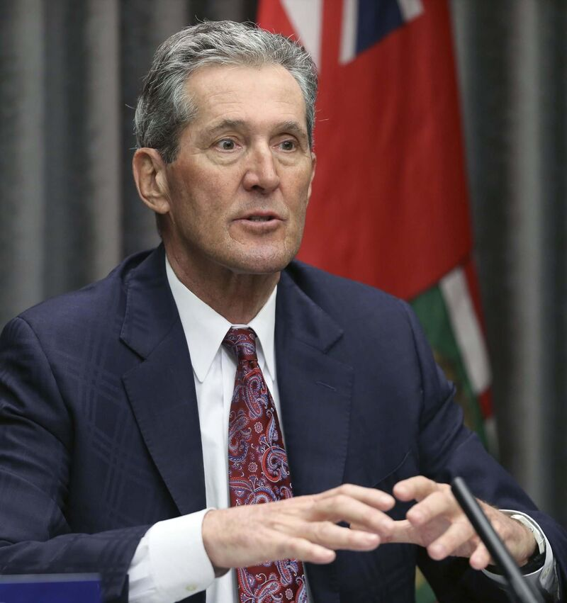 Premier Brian Pallister presented his own plan before dropping it. (Kevin King / Pool files)