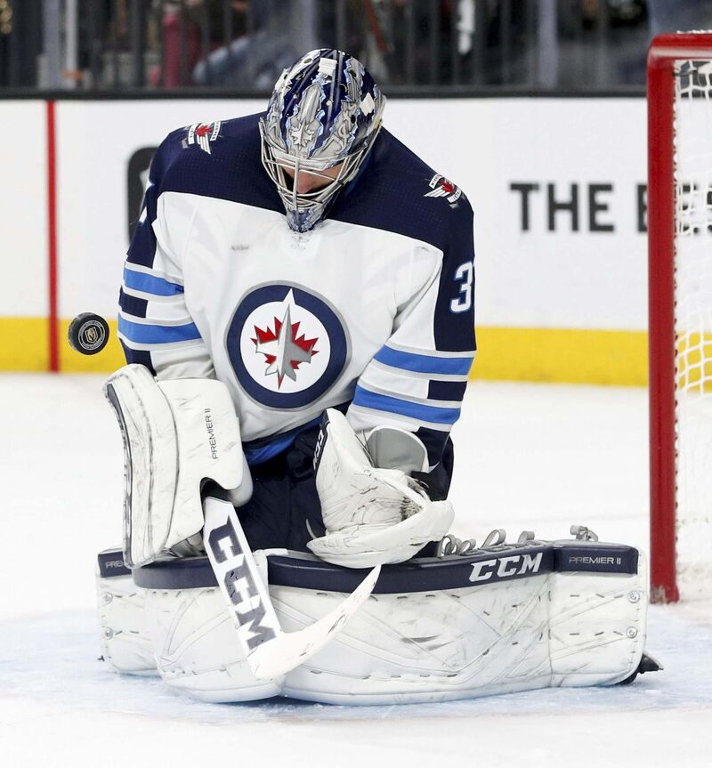 John Locher / The Associated Press files</p><p>Winnipeg Jets goaltender Connor Hellebuyck, an all-star who was also a finalist for the Vezina Trophy in 2017-18, has signed a six-year, $37-million contract with the Jets.</p>