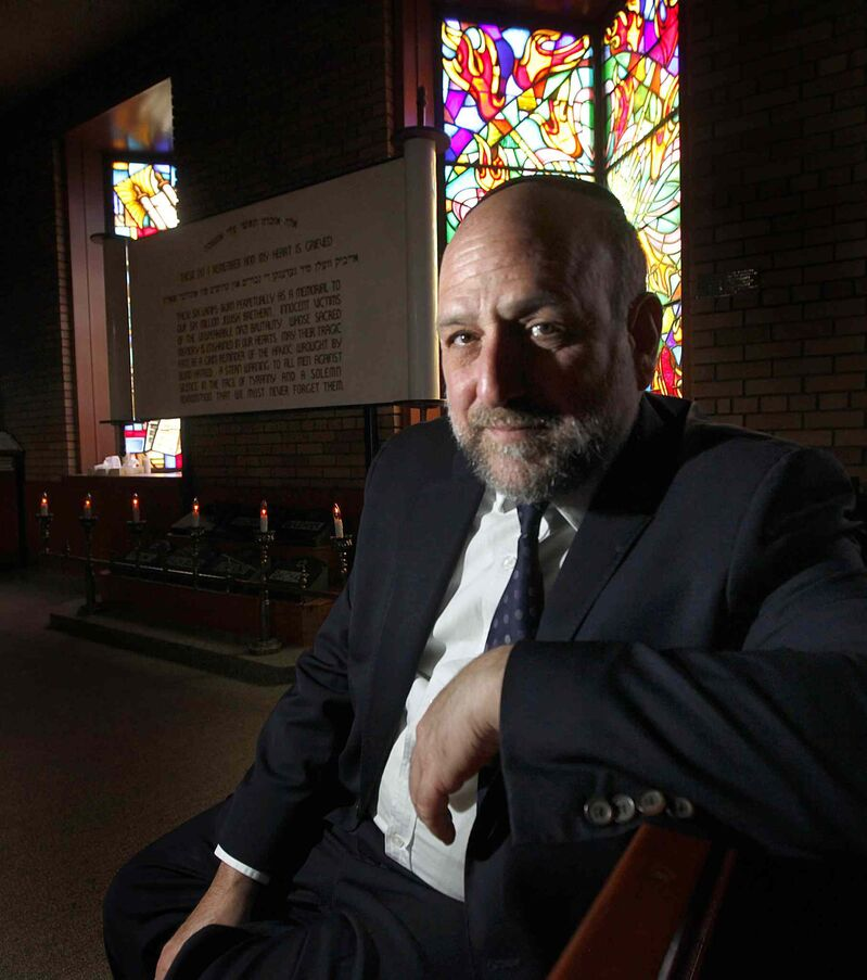 Chief Rabbi of Poland Michael Schudrich has been involved with groundbreaking work to identify and mark the locations of mass executions and graves in Poland. (Phil Hossack / Winnipeg Free Press)