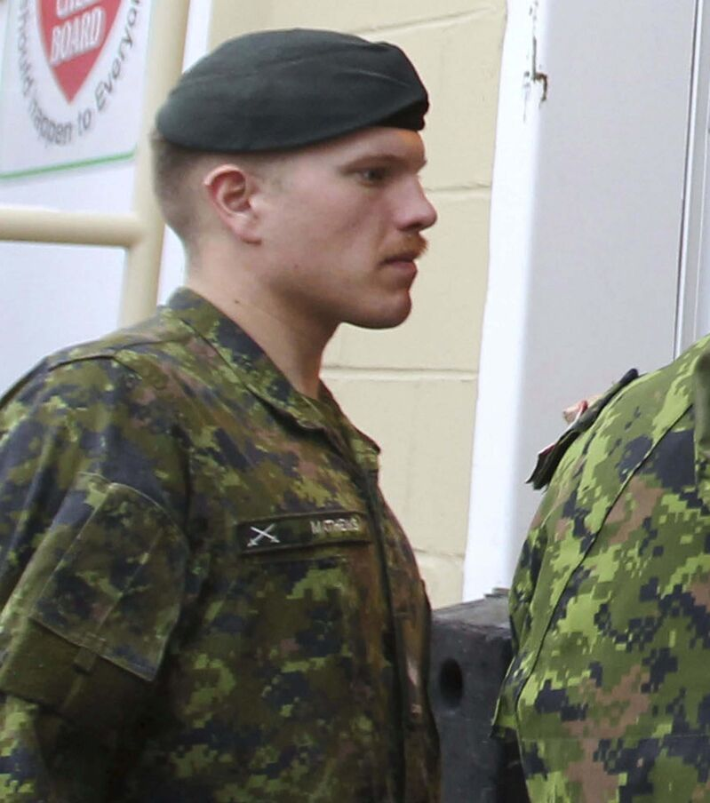 The Armed Forces and the RCMP are investigating Master Cpl. Patrik Mathews' involvement in The Base. (Free Press files)
