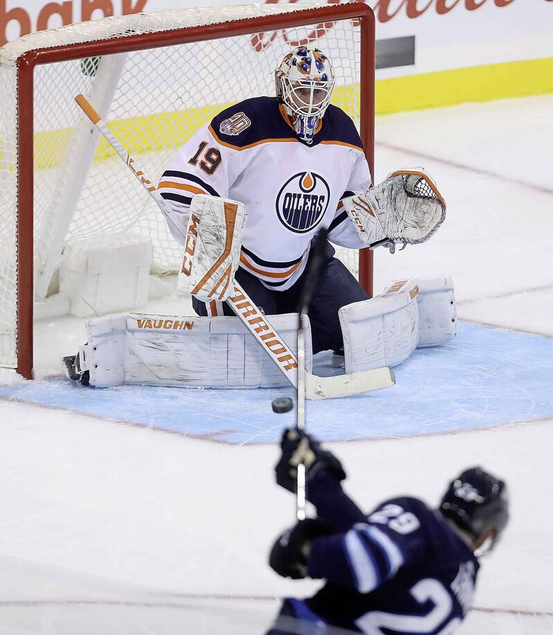 Patrik Laine scored on his first shot of the season, but has yet to put the puck in the net again. (Trevor Hagan / The Canadian Press files)