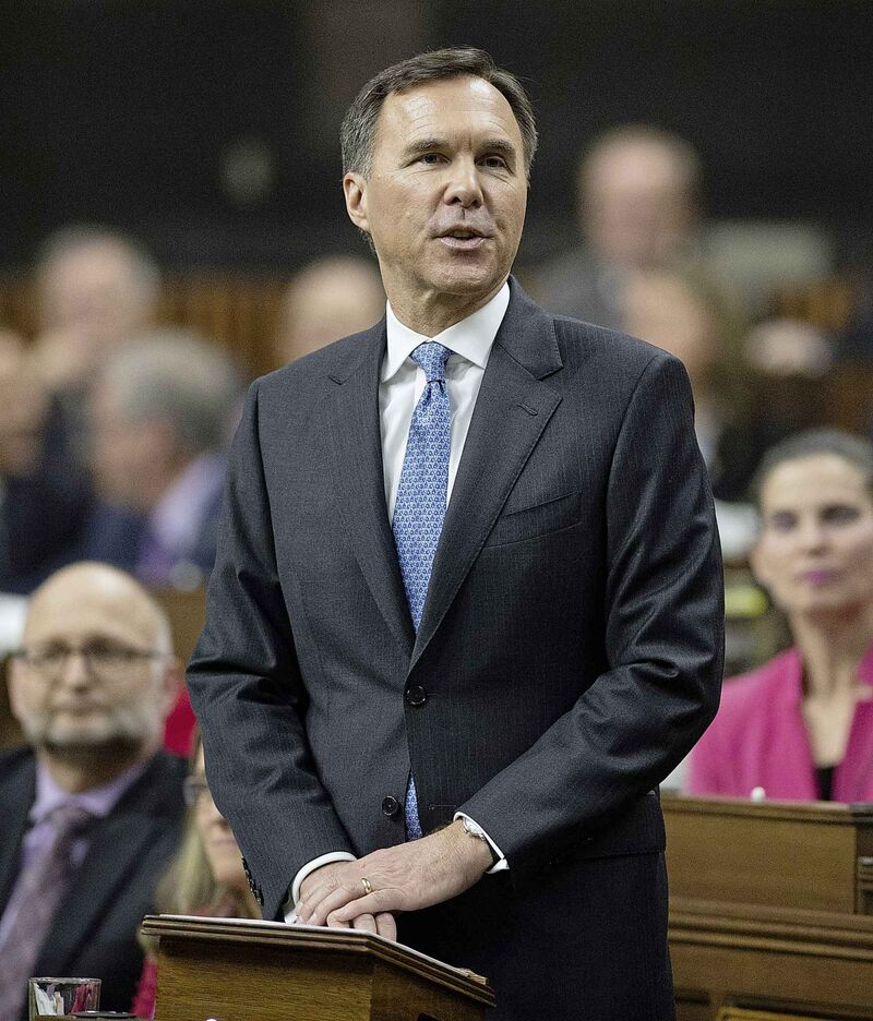 Finance Minister Bill Morneau delivers the federal budget in the House of Commons in Ottawa, Tuesday.