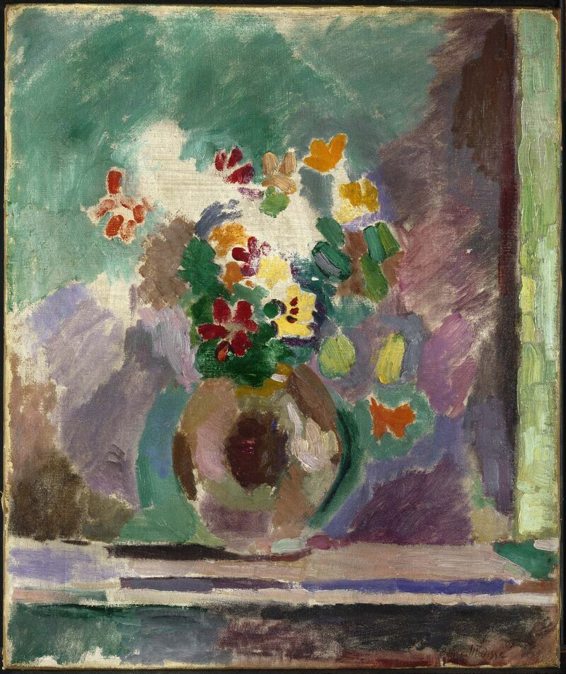 <p><B>Henri Matisse</b> </br> <I>Flowers,</i> 1906. </br> Oil on canvas, 54.9 x 46 cm. </br> Brooklyn Museum.  Gift of Marion Gans Pomeroy, 61.243. </p>