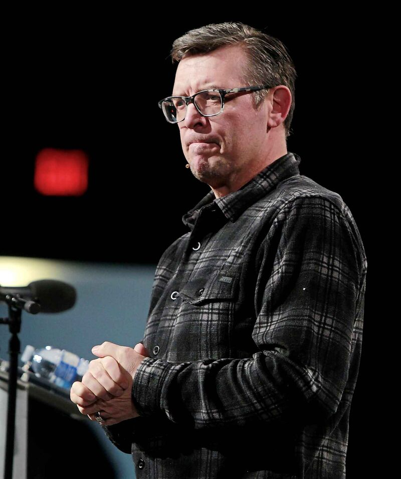 """""""I think it would be a great example of forgiveness, education, the process, all of that stuff, if we did get the opportunity to sit down with him,"""" says Theo Fleury.  (Boris Minkevich / Winnipeg Free Press files)"""