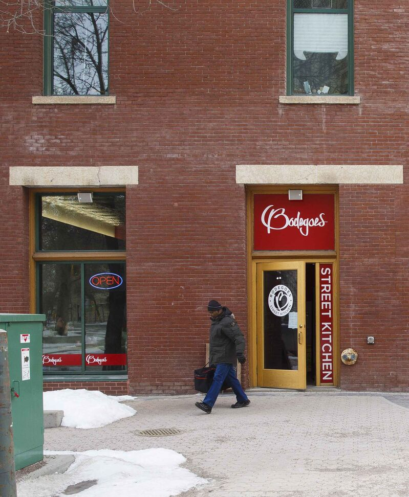 Among Bellamy's favourite restaurants is Bodegoes at 211 Bannatyne Ave. in the Exchange District.