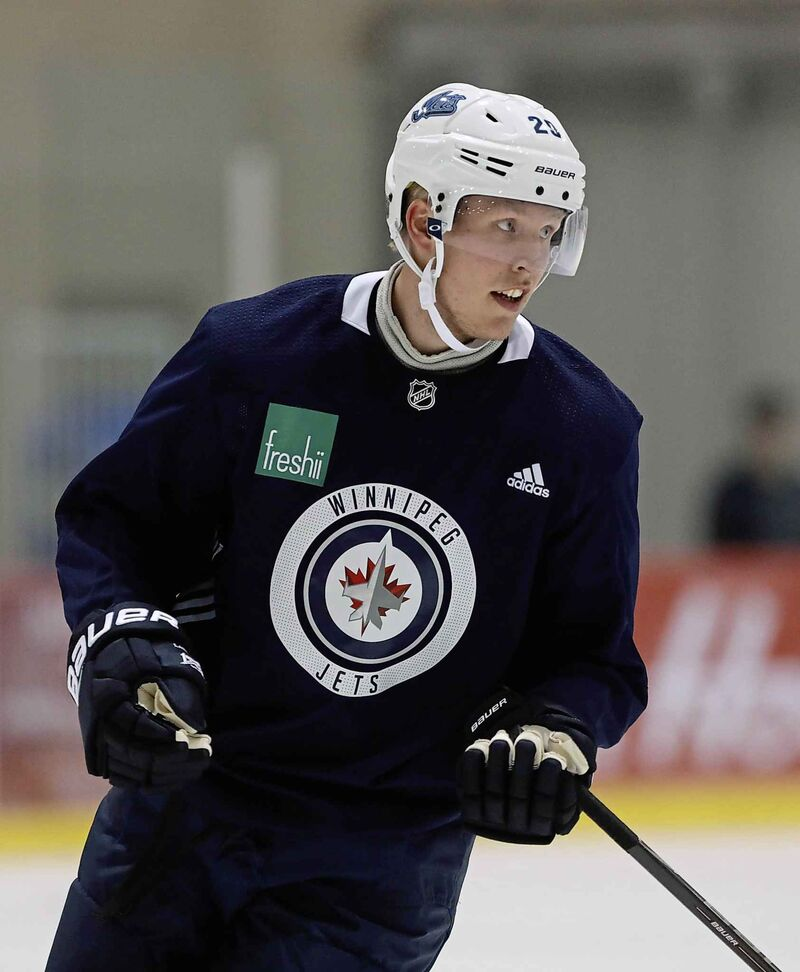 Patrik Laine comes to training camp 14 pounds lighter this season.