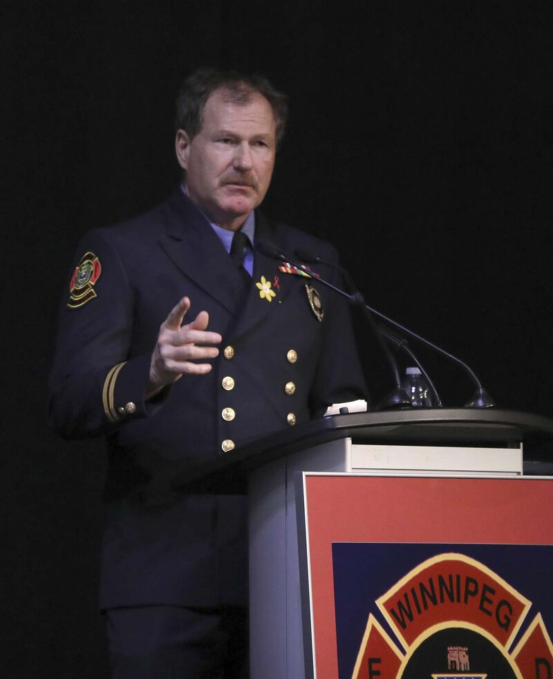 Taxpayers aren't pleased they are covering some of United Firefighters of Winnipeg President Alex Forrest's salary. (Ruth Bonneville / Winnipeg Free Press files)