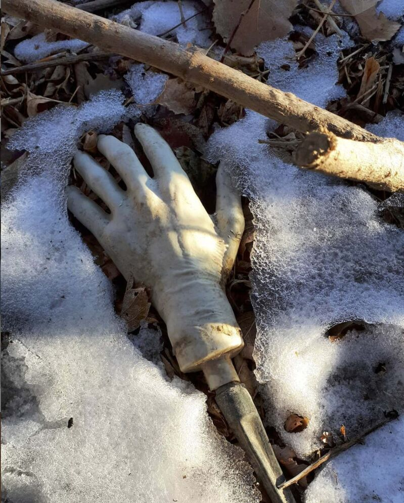 Instagram / Sally Ito</p><p>Mudlarking 49: Mudlarkers in the U.K. find broken limbs of porcelain dolls. In North America, we find plastic limbs from Halloween decorations. Both are creepy.</p></p>
