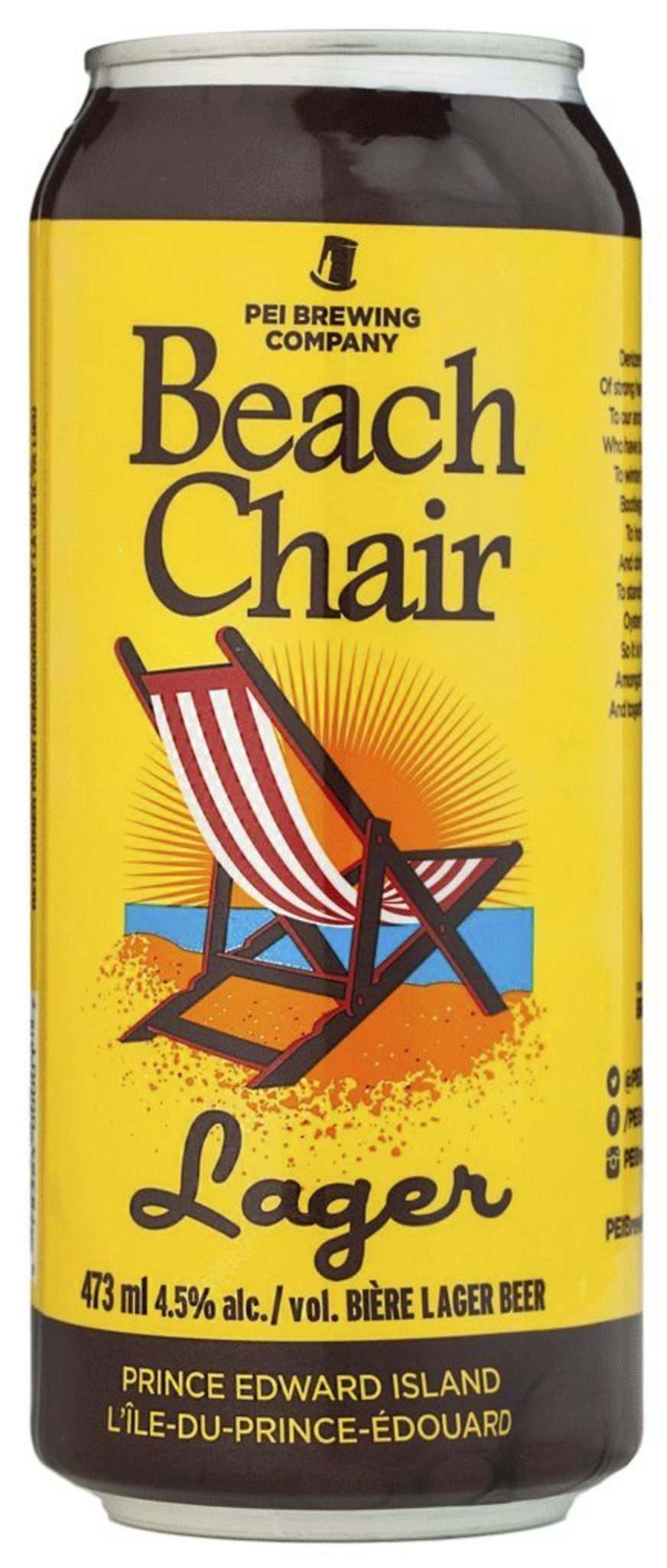 PEI Brewing Company's Beach Chair Lager.</p>