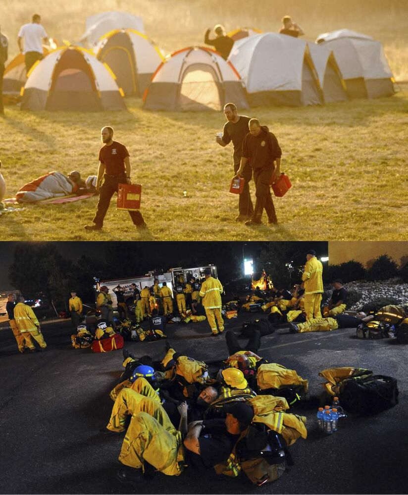 Every firefighter available in the city was called in to fight the fire.