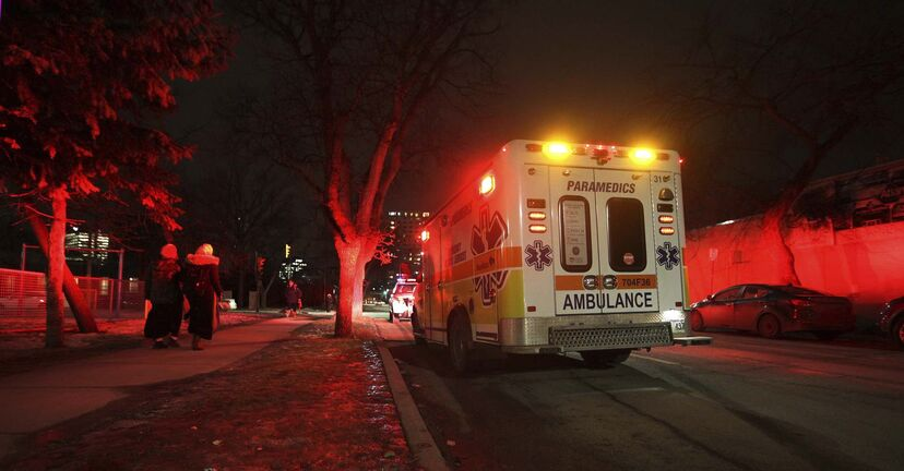 RUTH BONNEVILLE / WINNIPEG FREE PRESS</p></p><p>Ambulance truck on Ellen street Wednesday evening.</p><p>Photo of ambulance for story on province ending ambulance funding deal.</p></p><p>Nov 29, 2017</p>