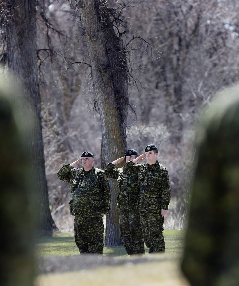 National Day of Honour - Winnipeg soldiers honour sacrifice  at Brookside Cemetery ceremony . May 9, 2014 (KEN GIGLIOTTI / WINNIPEG FREE PRESS)
