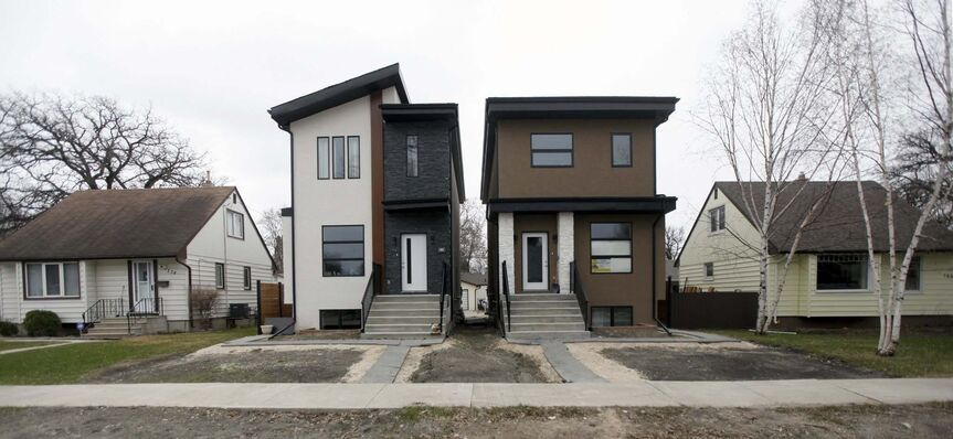 The city has approved about 100 variance applications for lot splits in the past 10 years in Glenwood. (Phil Hossack / Winnipeg Free Press files)