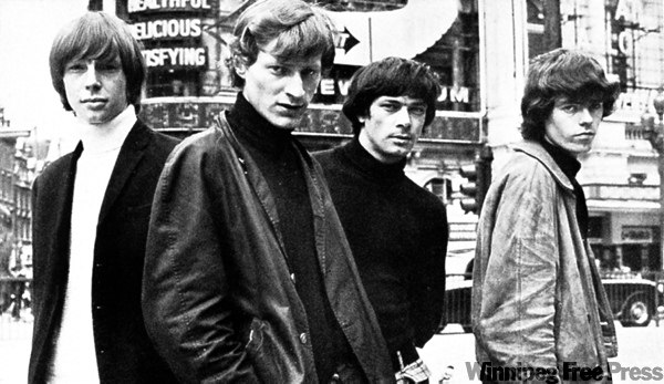 SUPPLIED PHOTO The Crescendos in London in 1966. From left, Stuart Mckernan, Loeb, MacRae and Masters.