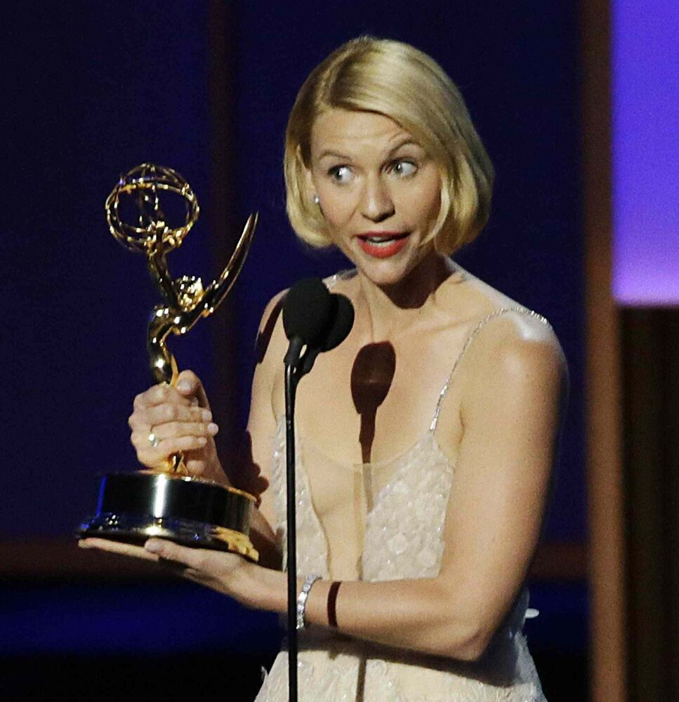 Claire Danes captures top actress honours for her troubled CIA agent in Homeland.