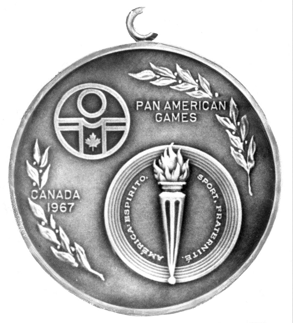 A gold medal from the 1967 Pan American Games in Winnipeg. (Winnipeg Free Press Files)
