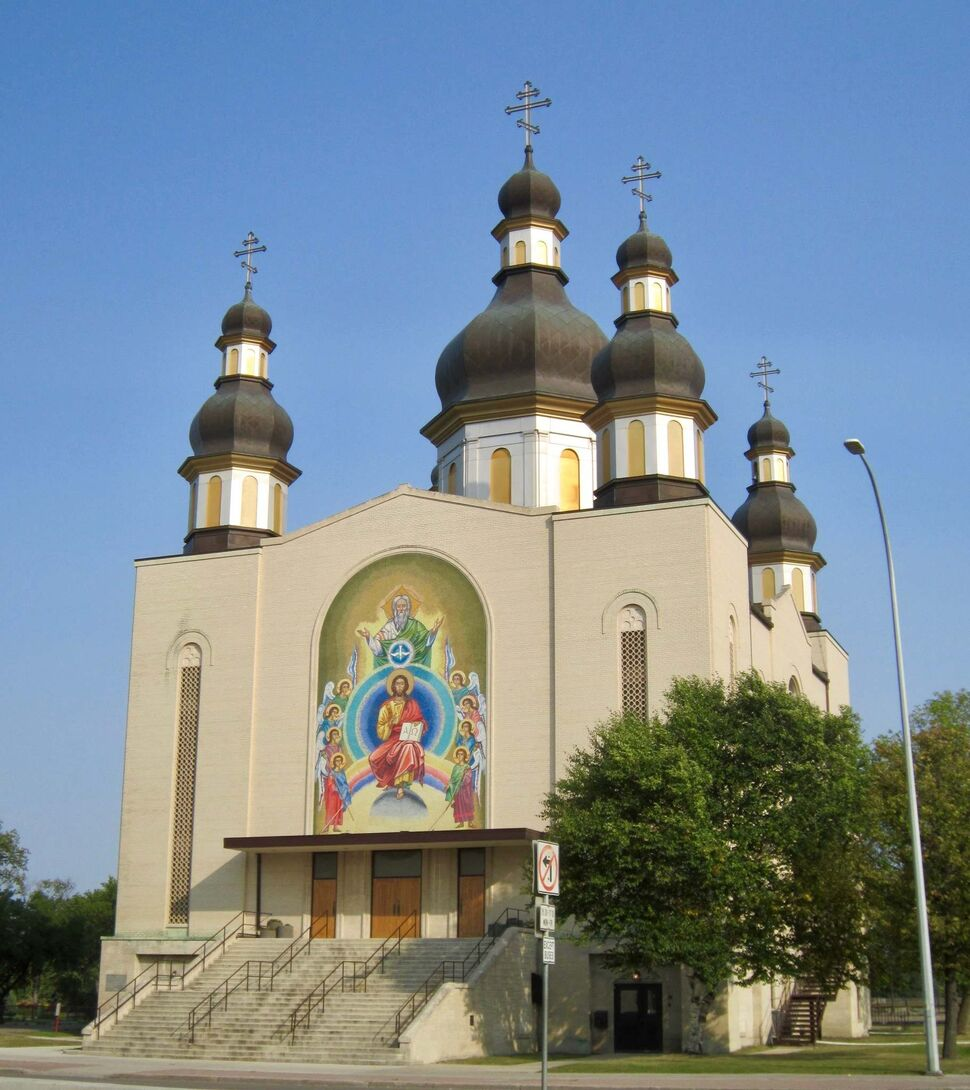 The five-dome Holy Trinity Ukrainian Orthodox Metropolitan Cathedral on Main Street took nearly 14 years to build.</p>