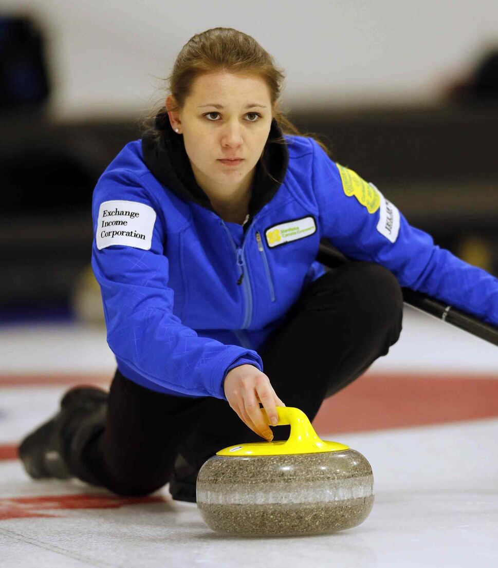 Rachel Burtnyk in game vs Meaghan Brezden (KEN GIGLIOTTI / WINNIPEG FREE PRESS)