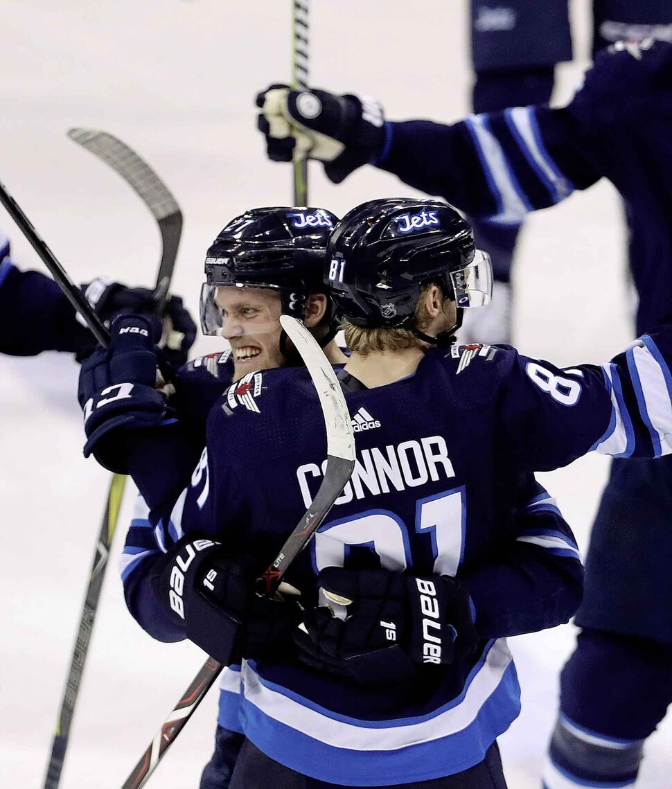 Winnipeg Jets left wing Nikolaj Ehlers (27) and left wing Kyle Connor (81).  (Trevor Hagan / THE CANADIAN PRESS FILES)