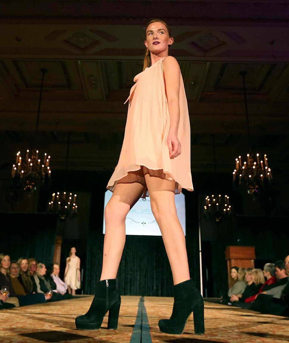 JASON HALSTEAD / WINNIPEG FREE PRESS</P><p>Models show off Hush clothing at the Runway to Change fashion show fundraiser presented by Qualico in support of Main Street Project on Feb. 2, 2017, at the Fort Garry Hotel.
