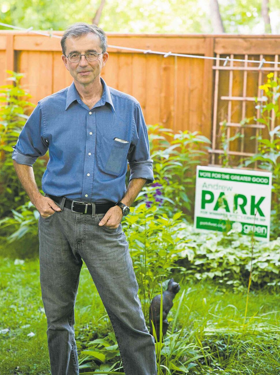 Andrew Park, the Green party candidate for Winnipeg South Centre (Winnipeg Free Press)