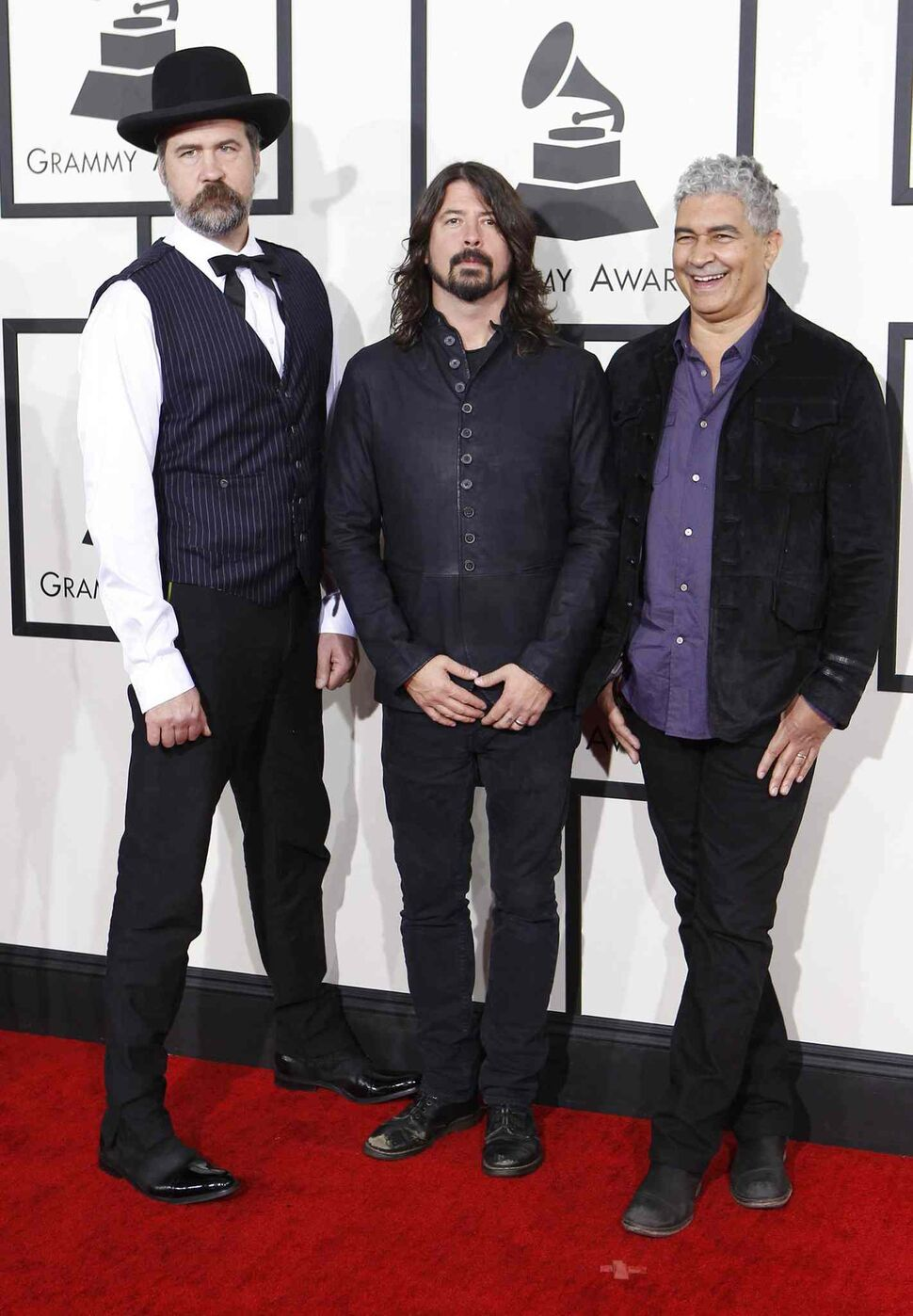 The Foo Fighters arrive at the 56th Annual Grammy Awards. (Wally Skalij / Tribune Media MCT)