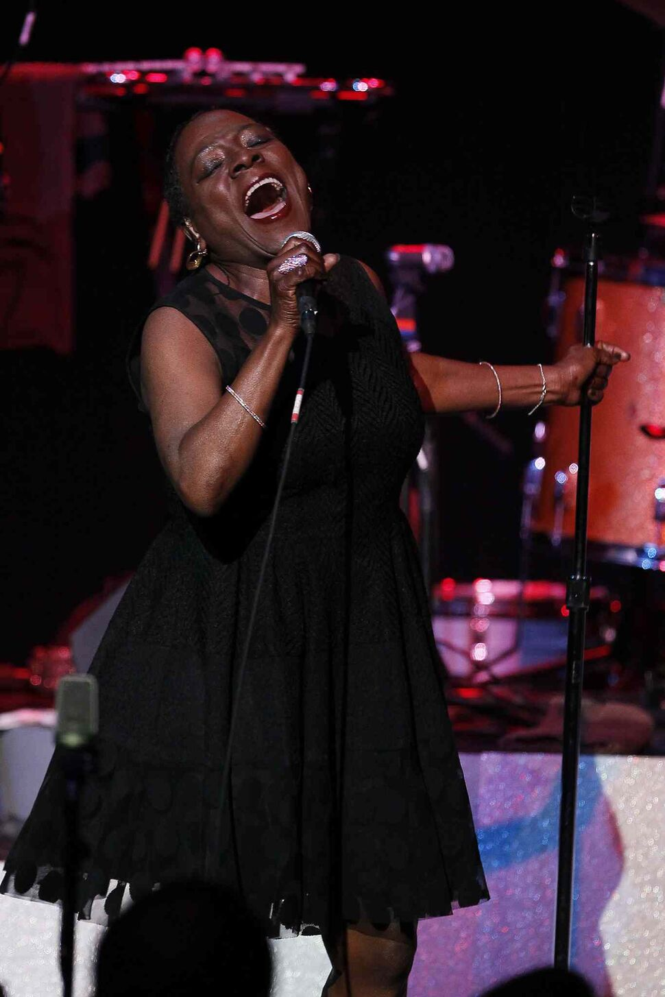 Sharon Jones and The Dap-Kings are touring to perform their latest album, Give The People What They Want — the release of which was put on hold after Jones was diagnosed with cancer. (John Woods / Winnipeg Free Press)