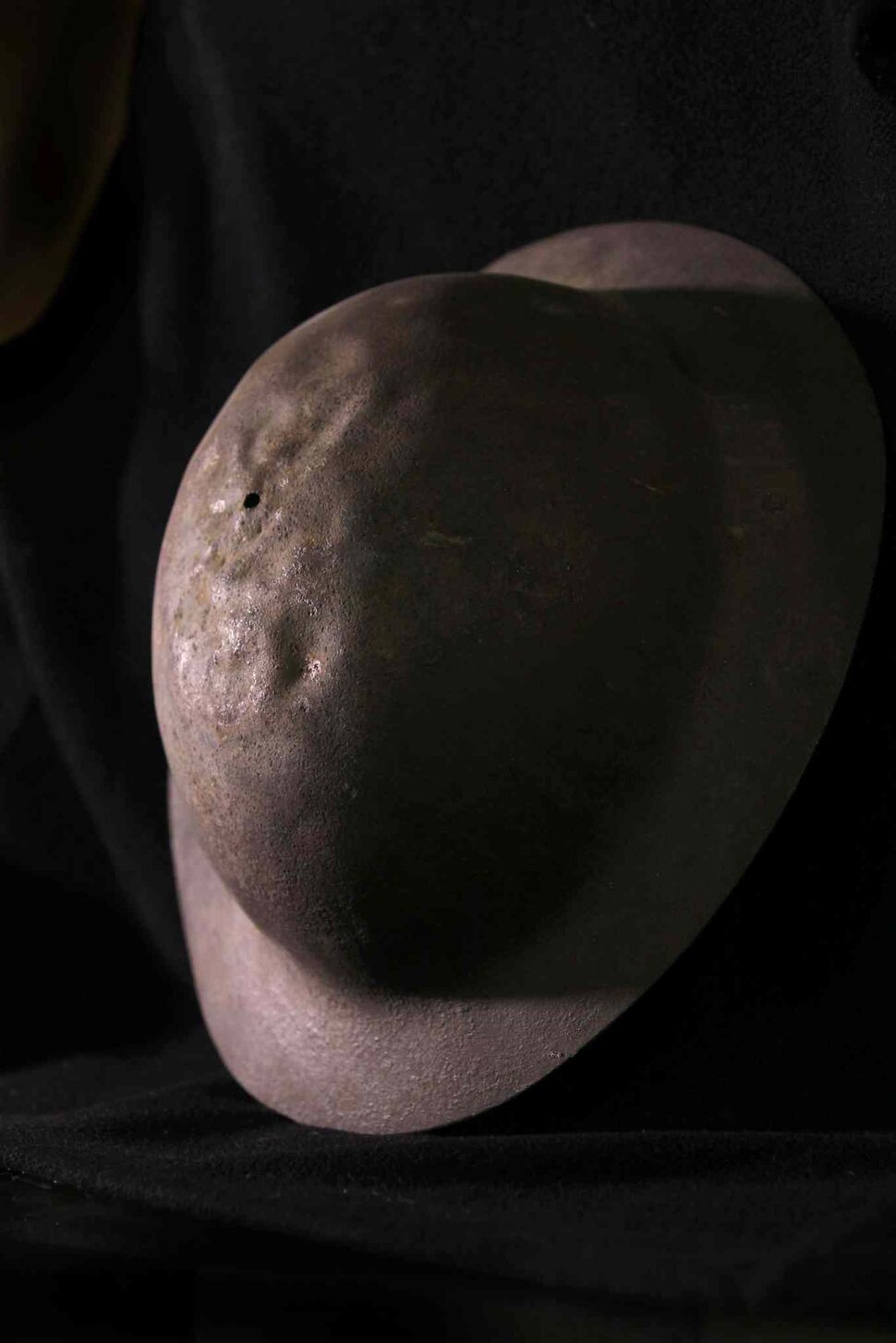 The Brodie metal helmet, which replaced the cloth cap in 1916, reduced head wounds by 80 per cent.  (Ruth Bonneville / Winnipeg Free Press)