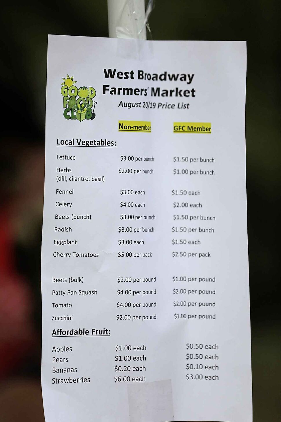 West Broadway farmer's market aims to supply affordable fresh food to people in the neighbourhood.