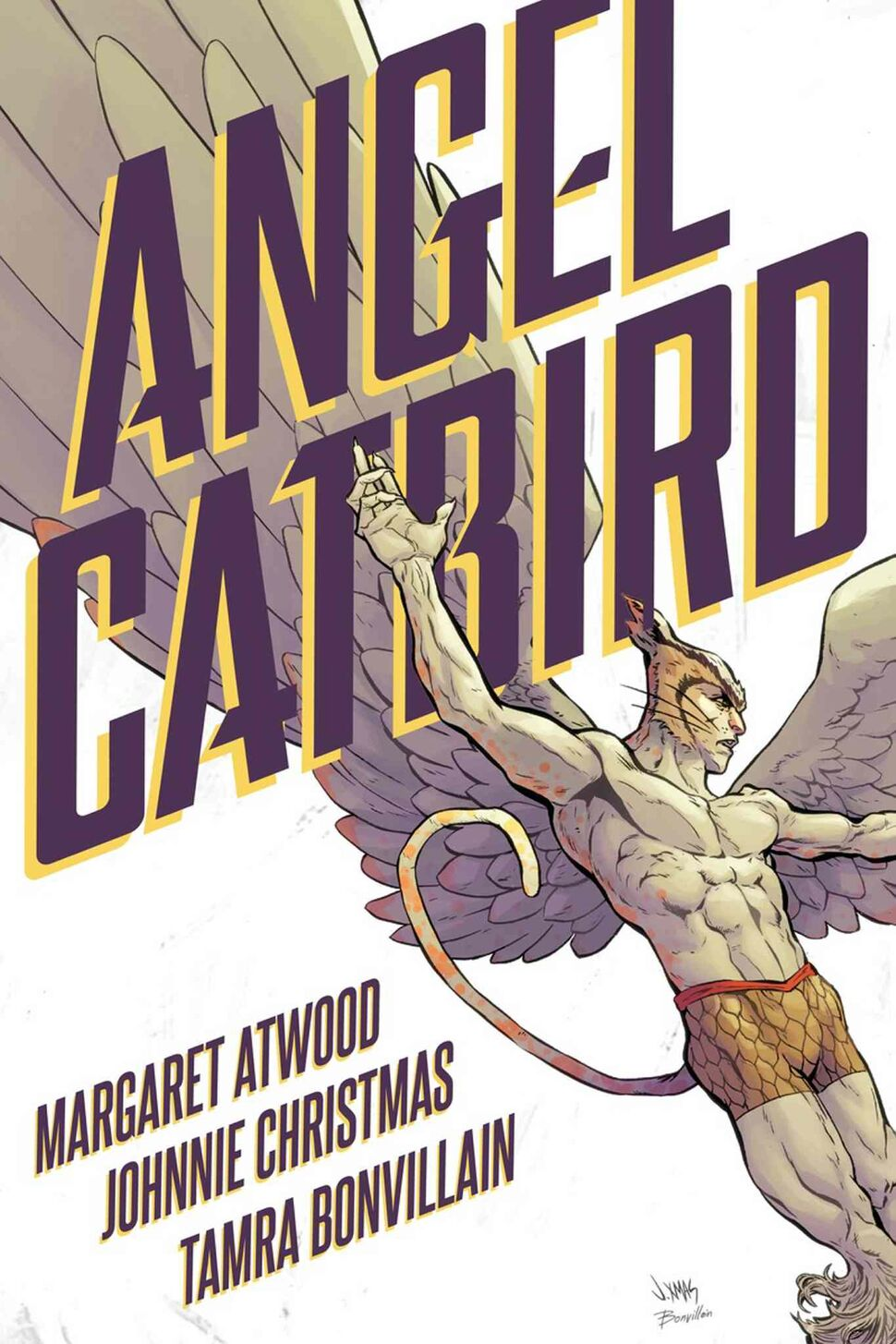<h3>Angel Catbird Vol. 1</h3> By Margaret Atwood, Johnnie Christmas and Tamra Bonvillain <h4>A mild-mannered genetic engineer gains high-flying superpowers after a mishap with some DNA-altering serum. The result is Angel Catbird, a hybrid hero who springs to life in this pulpy, punny graphic novel from Canlit icon Margaret Atwood and inspired artist Johnnie Christmas.</h4>  — Nyala Ali