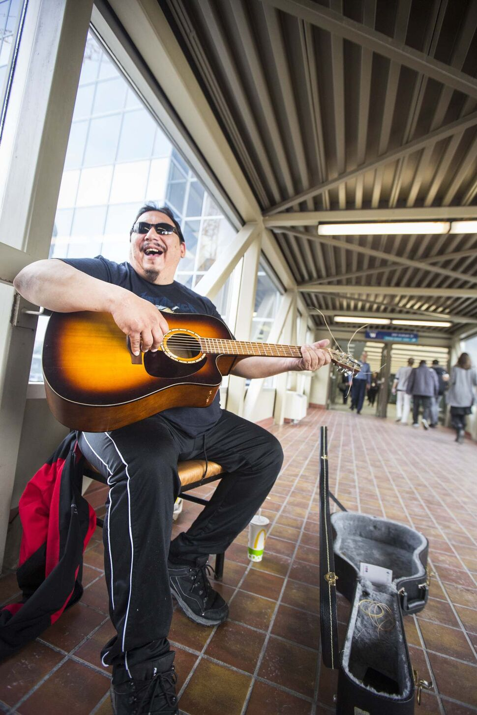 Lucien Spence is one of the artists you will find in the skywalk. (Mikaela MacKenzie / Free Press files)