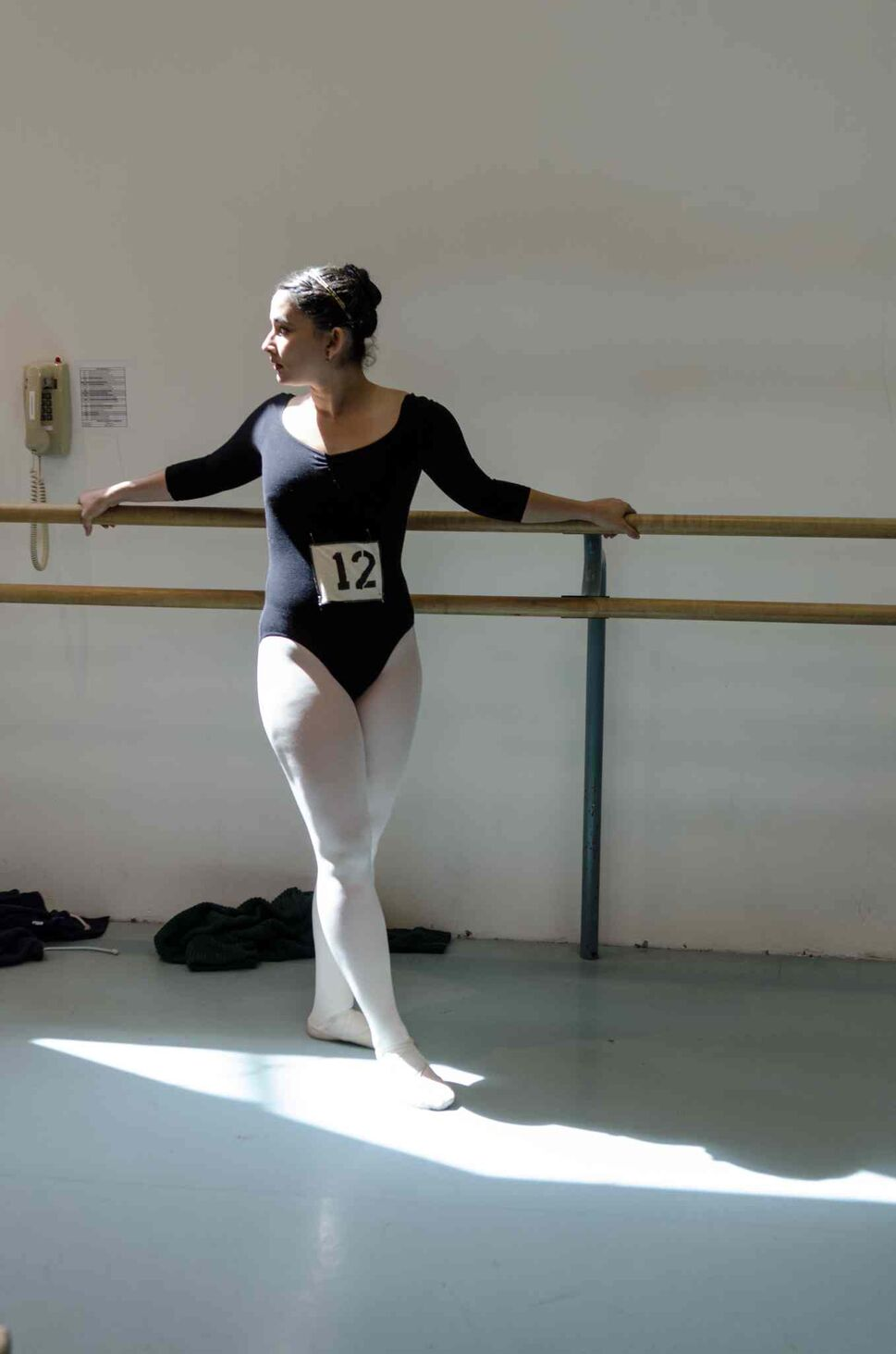 Adriana Ardila, 20, warms up before her audition. (EMILY CUMMING / WINNIPEG FREE PRESS)