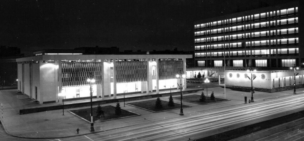 HENRY KALEN</p><p>In 1959, the firm won a national competition to design Winnipeg&rsquo;s Civic Centre, which included city hall and administration building.</p>