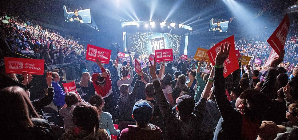 MIKE DEAL / WINNIPEG FREE PRESS</p><p>October 30 — Around 16,000 kids from across Manitoba attend WE Day at Bell MTS Place where they were celebrating young people committed to making a difference.</p>